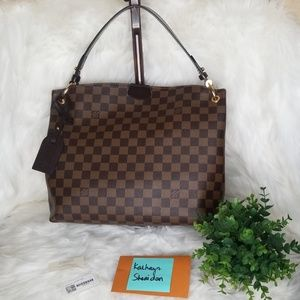 EUC LOUIS VUITTON GRACEFUL PM DAMIER EBENE  SD4187